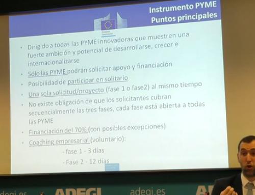 Programa Europeo Subvención a la Innovación de la Pyme. «Instrumento PYME». Parte 1